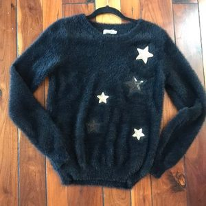 Sweaters - Fuzzy Star Accented Sweater (So Soft!)